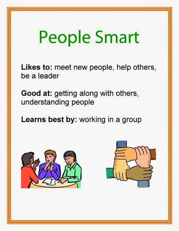 Multiple Intelligence People Smart printable poster