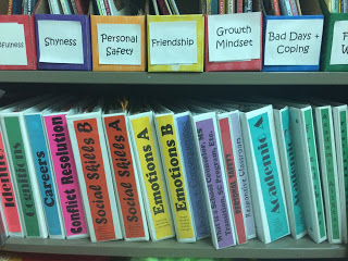 Counselor must haves: Colorful Binders and sheet protectors