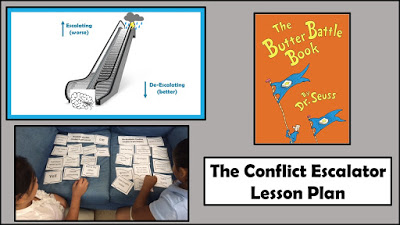 3rd grade conflict resolution lesson plan: Conflict Escaltor lesson