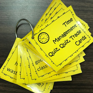 Elementary Lesson Plan: Time Management  Quiz Quiz Trade cards