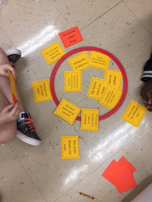 """Deciding if problems are inside our outside of our control using a hula hoop and examples of Alexander's problems from """"Alexander and the terrible, horrible, no good, very bad day"""""""