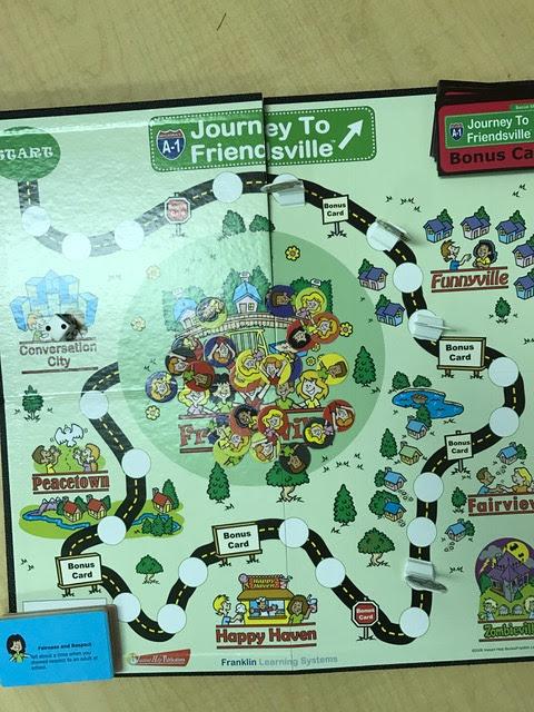 Journey to Friendsville game board photo