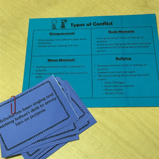 Conflict Resolution lesson plan; Rotation C -Types of Conflict cards