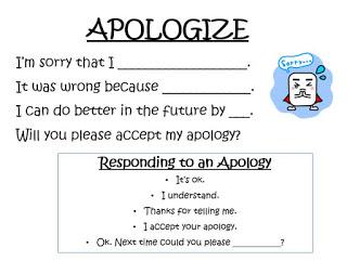 Apologies reproducible anchor chart