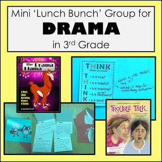 Mini Lunch Bunch Group for Drama in 3rd grade. Activities and books.