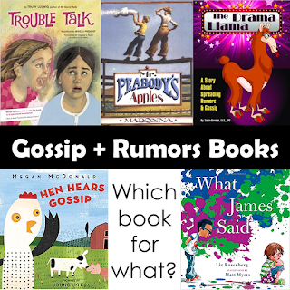 Book covers for 5 books for lessons on Gossip & Rumors