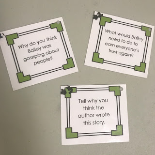 Trouble Talk lesson plan task cards