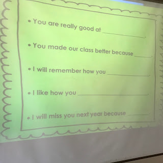 Sentence stems  student's use to sy kind things to one another