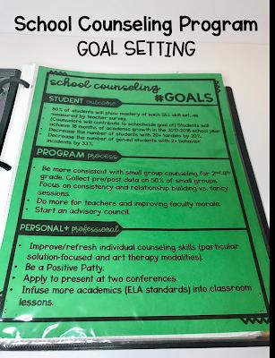School Counseling #Goals
