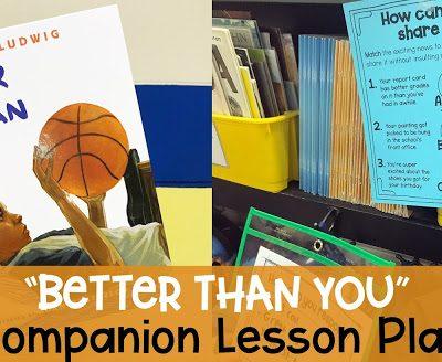 Better Than You Lesson Plan