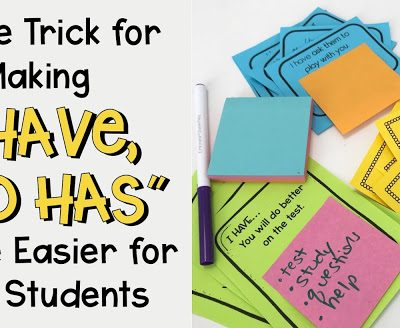 "Making ""I Have, Who Has"" A Little Easier For Your Students"