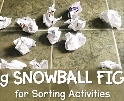 Snowball Fights for Sorting in School Counseling