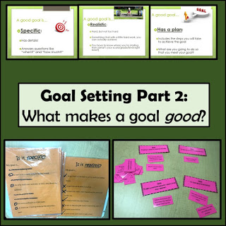 Goal Setting with 4th Grade – Part 2 – What makes a GOOD goal?