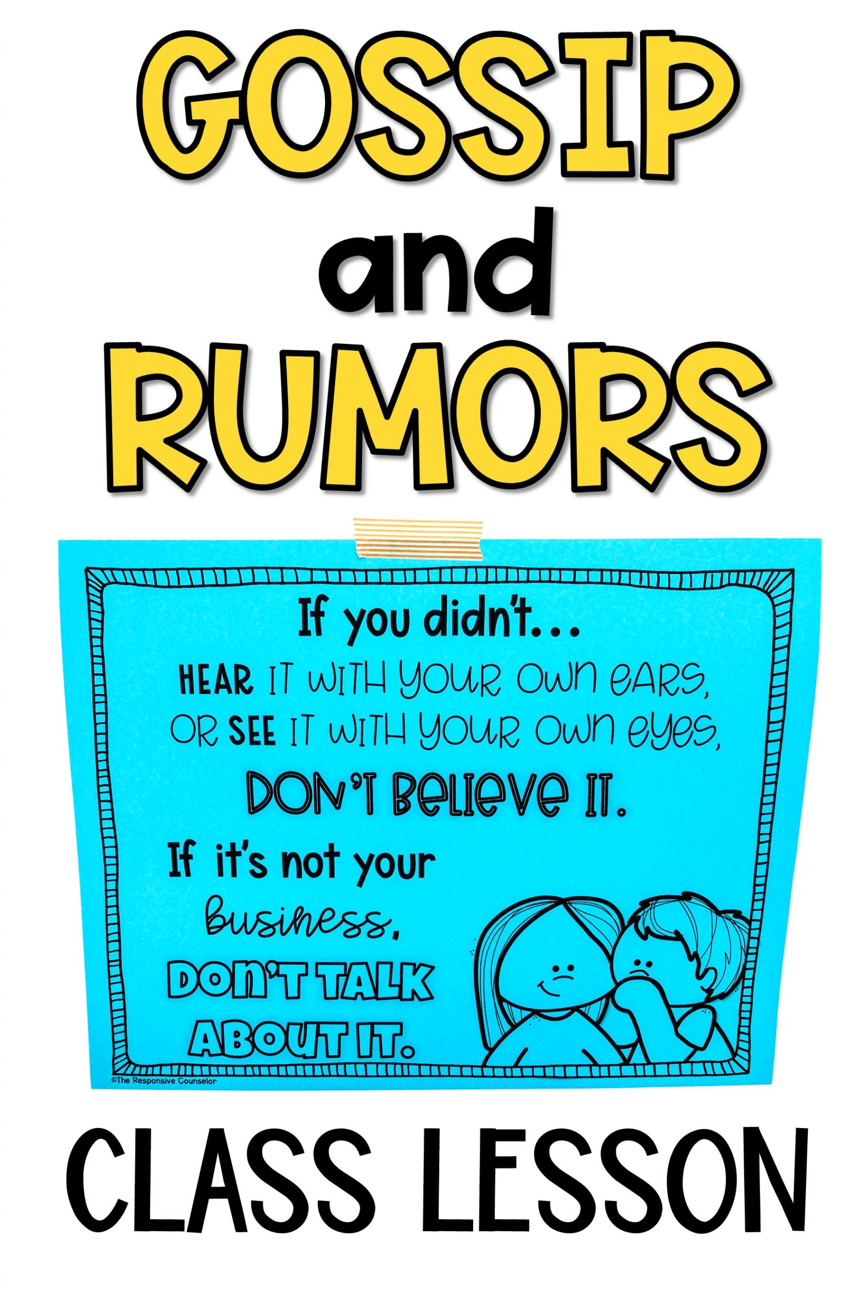 gossip and rumors lesson
