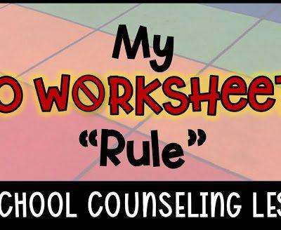"My ""No Worksheets"" Rule"
