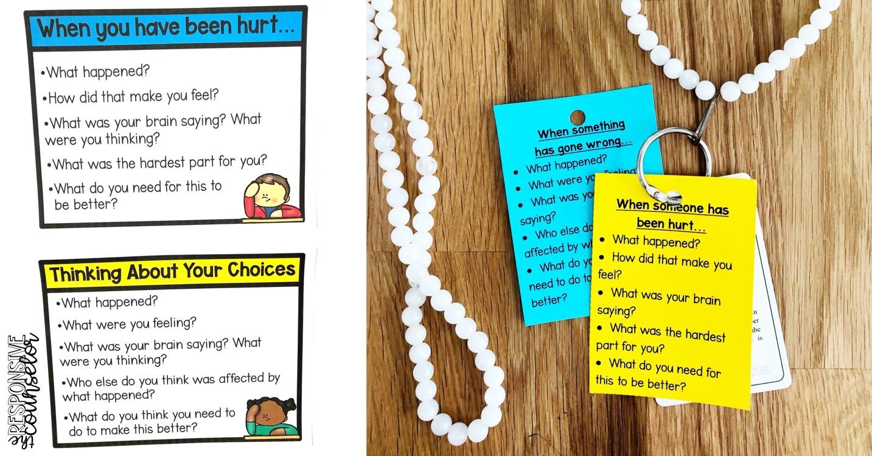 restorative prompts in elementary schools